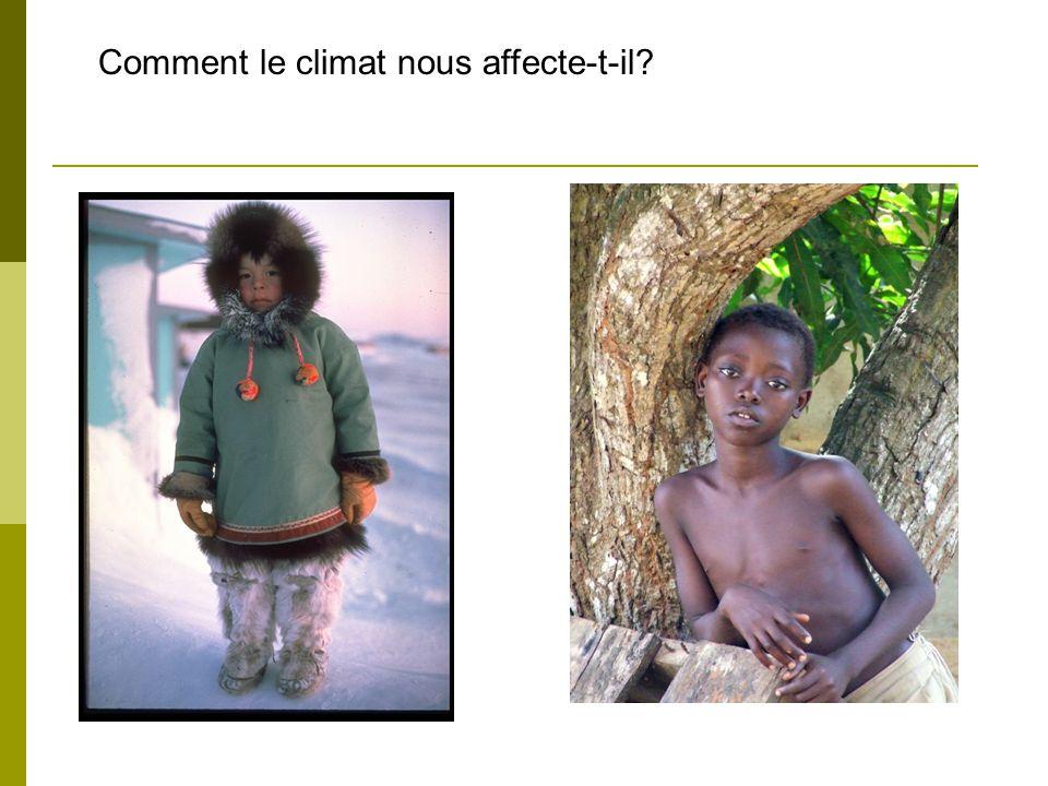 Comment le climat nous affecte-t-il