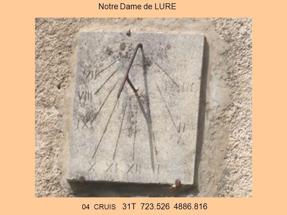 Notre Dame de LURE 04 CRUIS 31T 723.526 4886.816