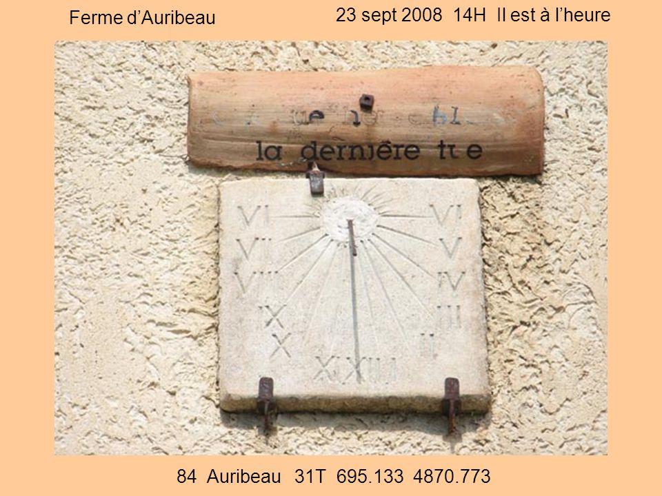 Ferme d'Auribeau 23 sept 2008 14H Il est à l'heure