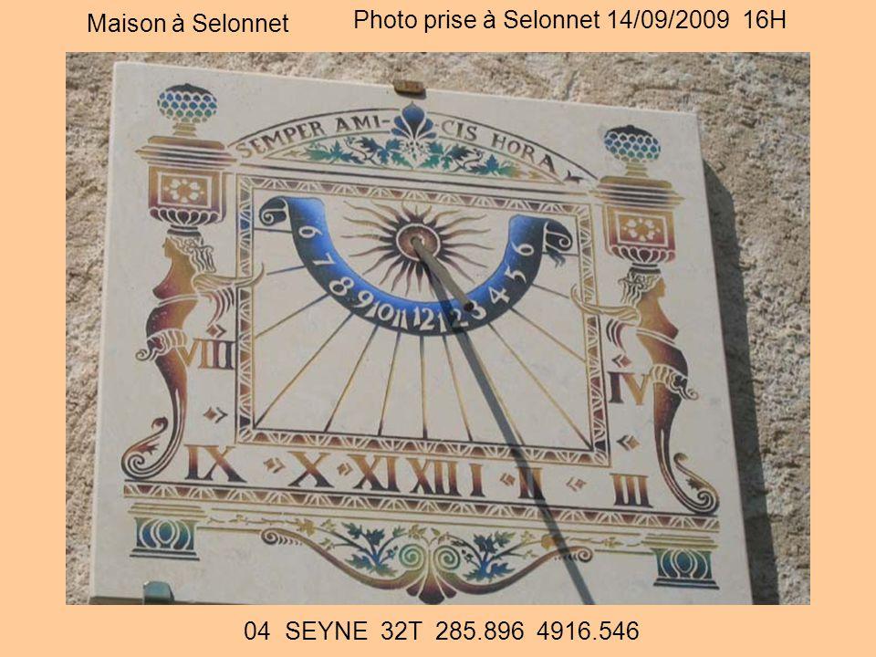 Photo prise à Selonnet 14/09/2009 16H