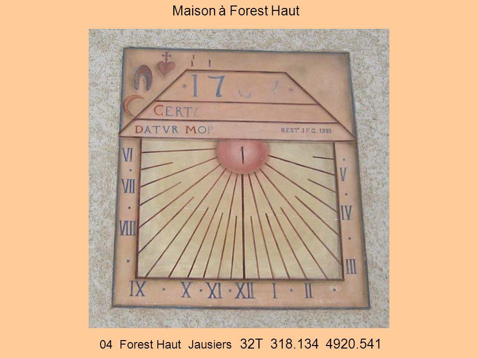 Maison à Forest Haut 04 Forest Haut Jausiers 32T 318.134 4920.541