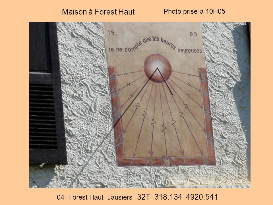 Maison à Forest Haut Photo prise à 10H05