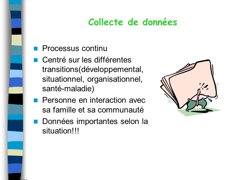 Collecte de données Processus continu