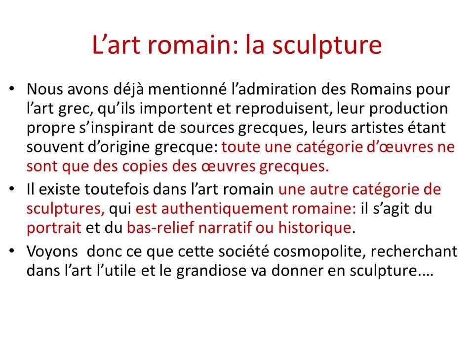 2 2 2 art romain sculpture ppt video online t l charger. Black Bedroom Furniture Sets. Home Design Ideas