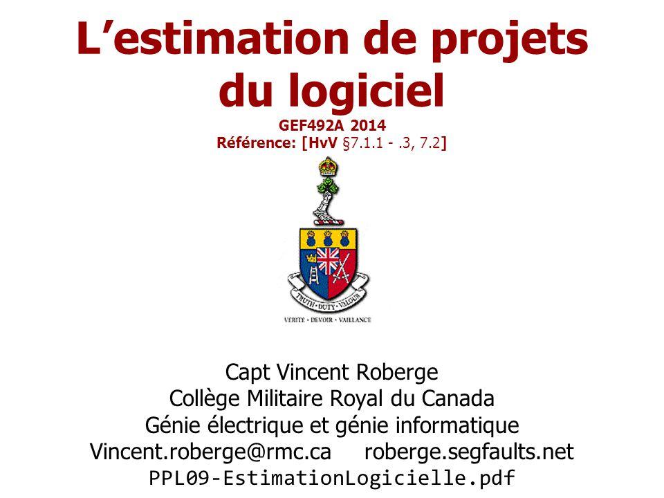 GEF492 - PPL09 Estimation de projets logiciels