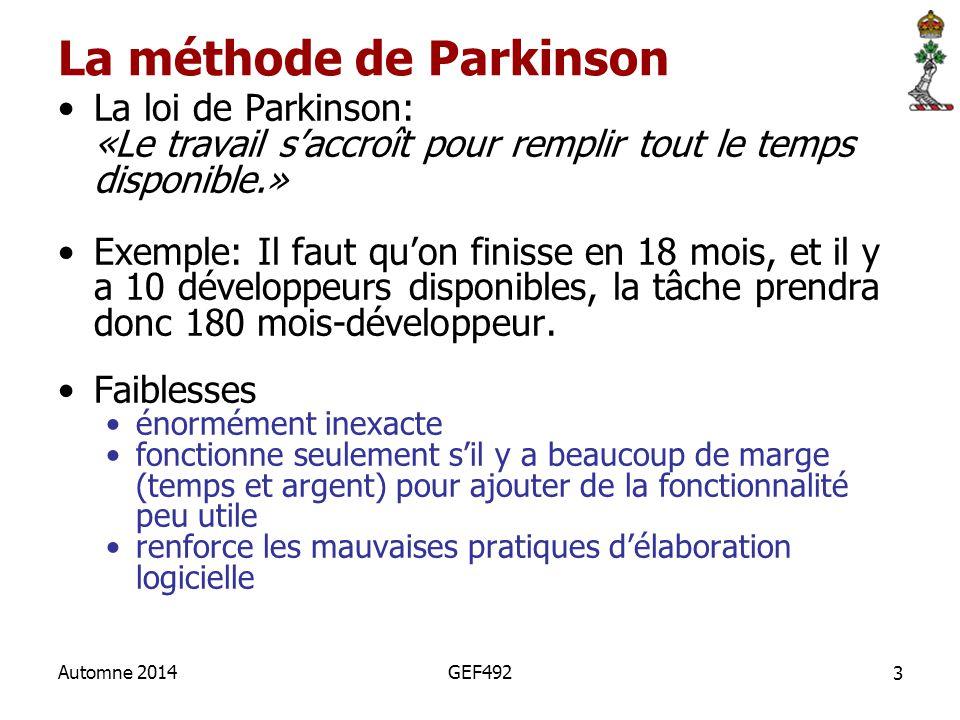 La méthode de Parkinson