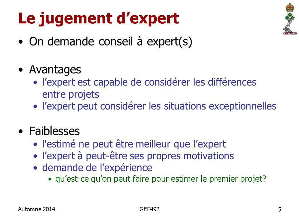 Le jugement d'expert On demande conseil à expert(s) Avantages