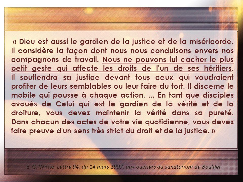 « Dieu est aussi le gardien de la justice et de la miséricorde
