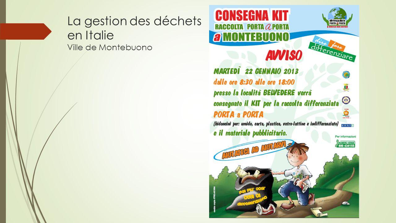 La gestion des déchets en Italie Ville de Montebuono