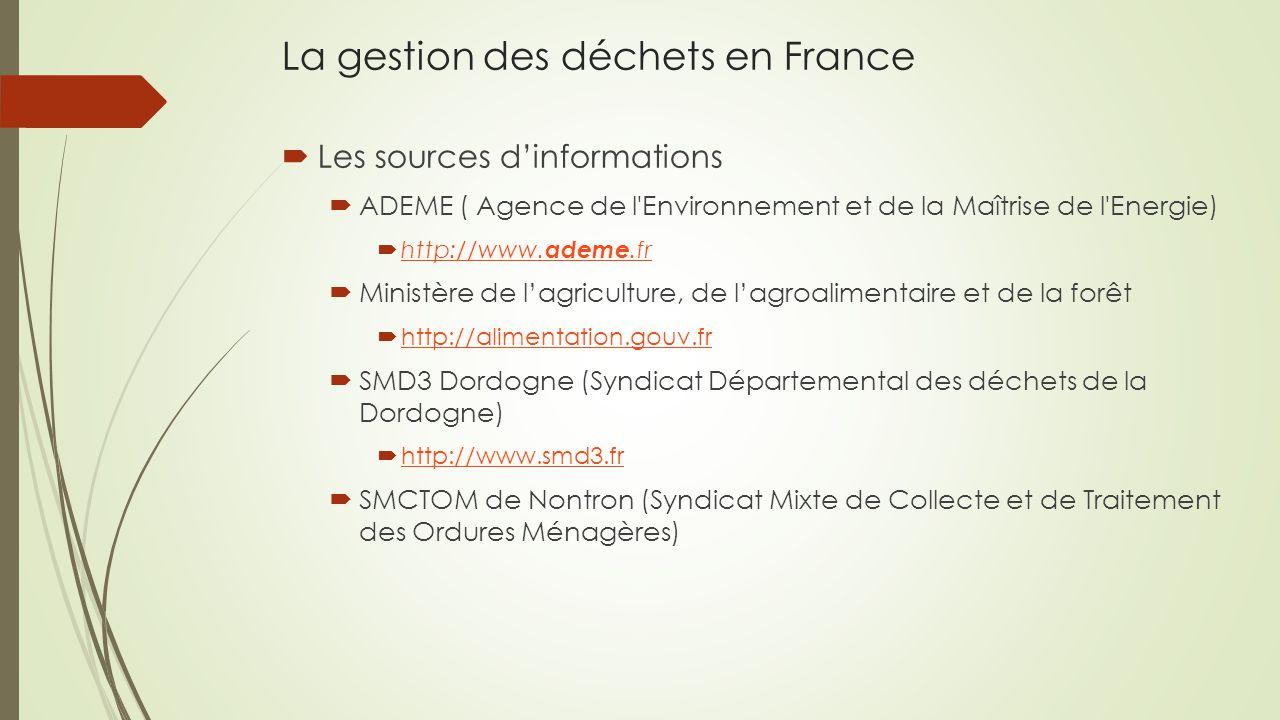La gestion des déchets en France