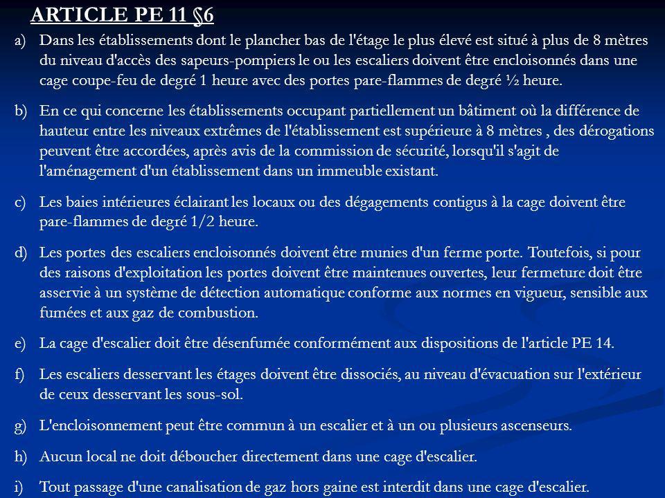 ARTICLE PE 11 §6