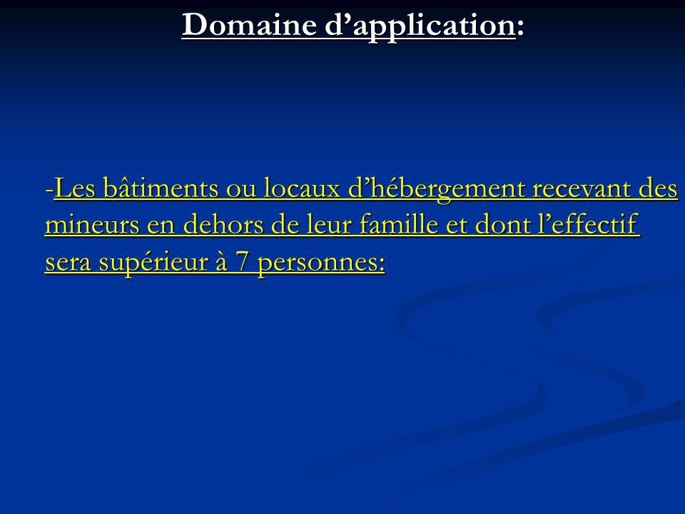 Domaine d'application:
