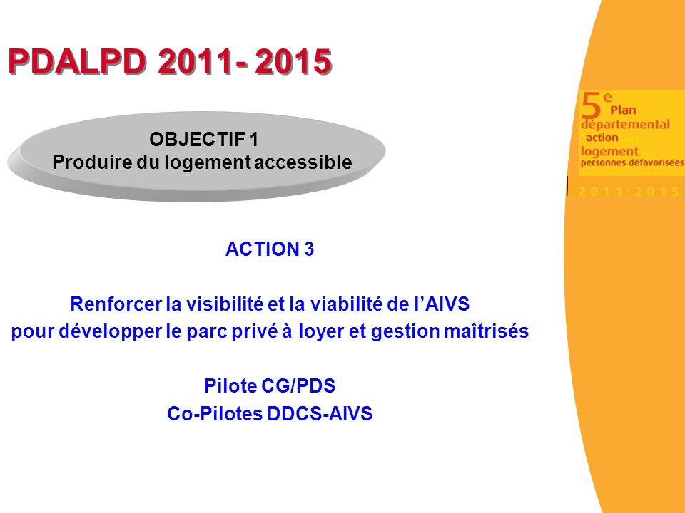 PDALPD 2011- 2015 OBJECTIF 1 Produire du logement accessible ACTION 3