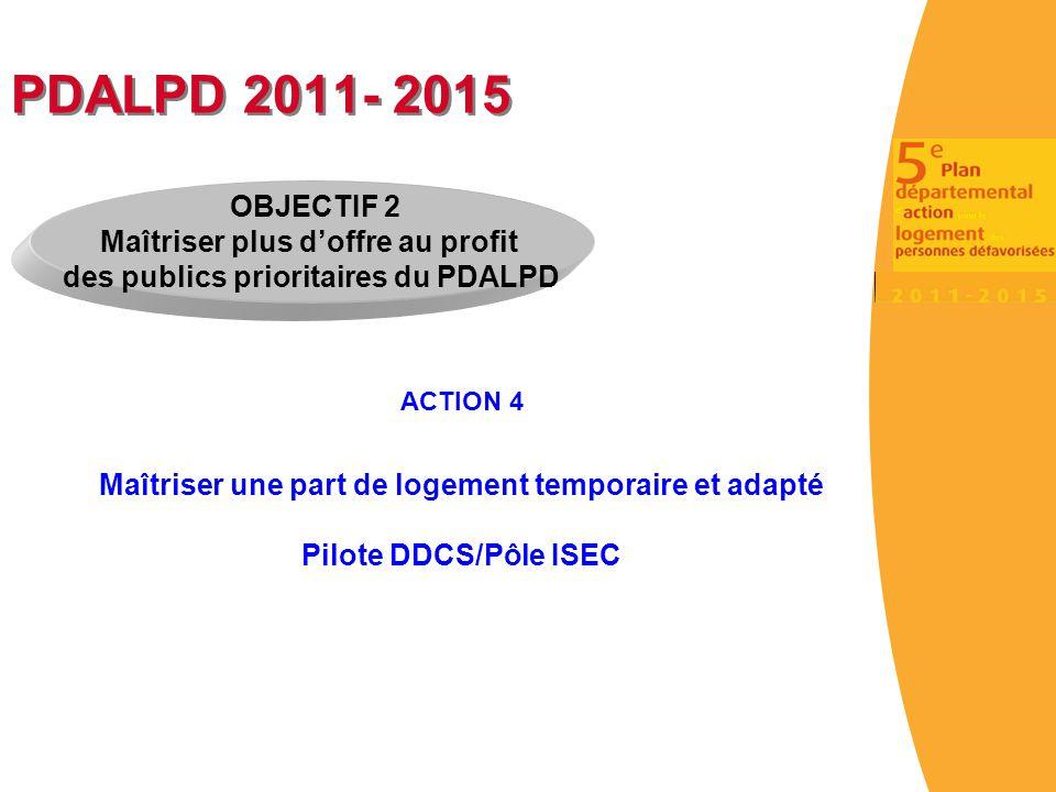 PDALPD 2011- 2015 OBJECTIF 2 Maîtriser plus d'offre au profit