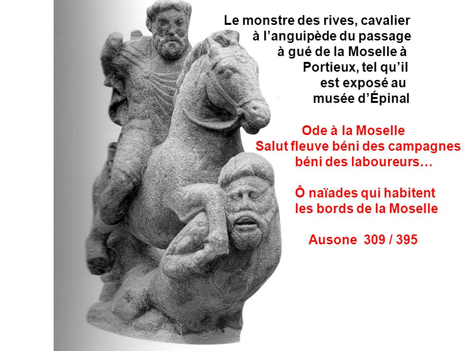 Le monstre des rives, cavalier