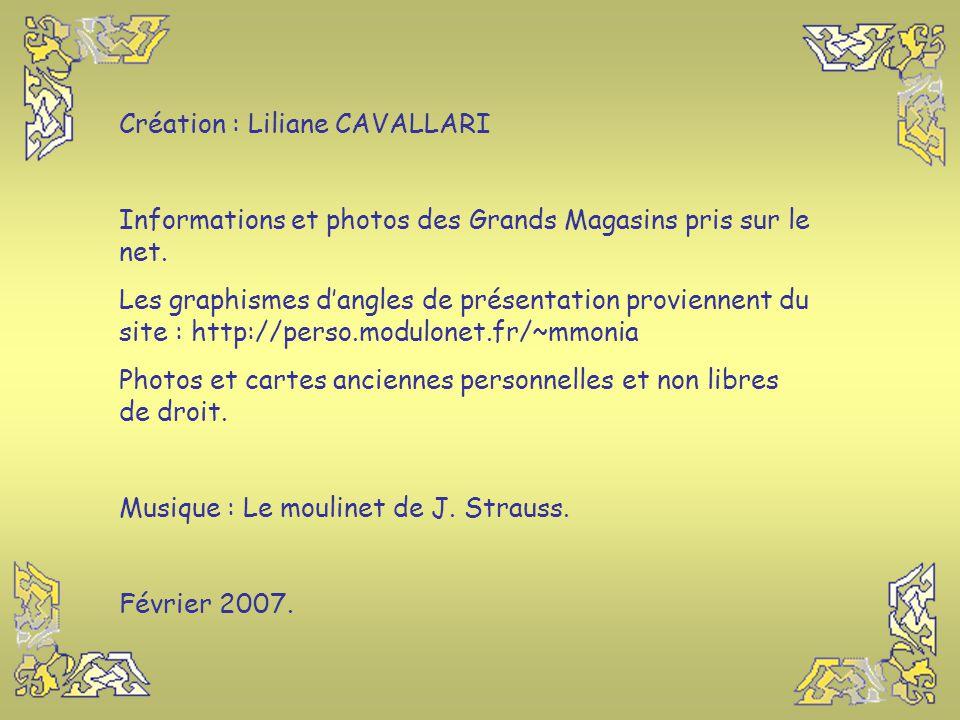Création : Liliane CAVALLARI