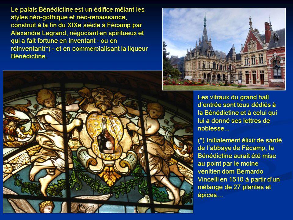 Le palais Bénédictine est un édifice mêlant les styles néo-gothique et néo-renaissance, construit à la fin du XIXe siècle à Fécamp par Alexandre Legrand, négociant en spiritueux et qui a fait fortune en inventant - ou en réinventant(*) - et en commercialisant la liqueur Bénédictine.