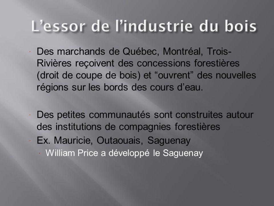 Ex. Mauricie, Outaouais, Saguenay