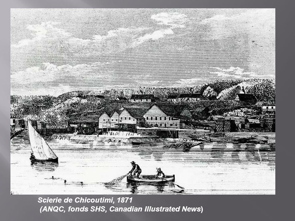 Scierie de Chicoutimi, 1871 (ANQC, fonds SHS, Canadian Illustrated News)