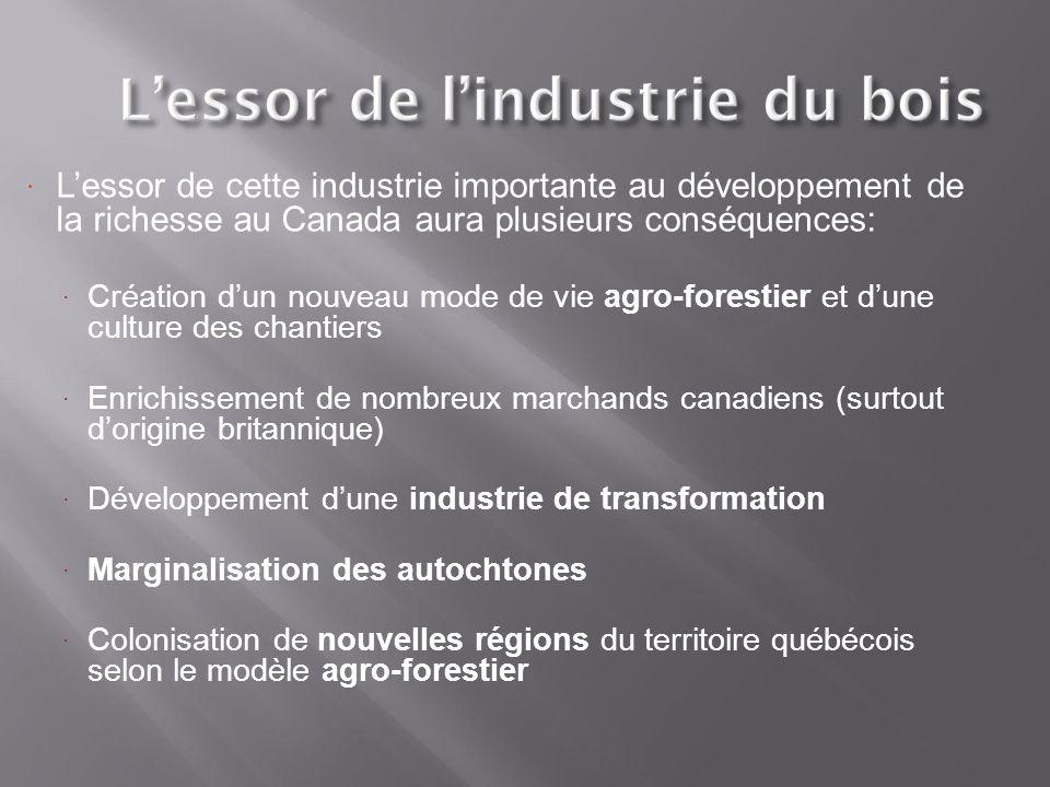 L'essor de cette industrie importante au développement de la richesse au Canada aura plusieurs conséquences: