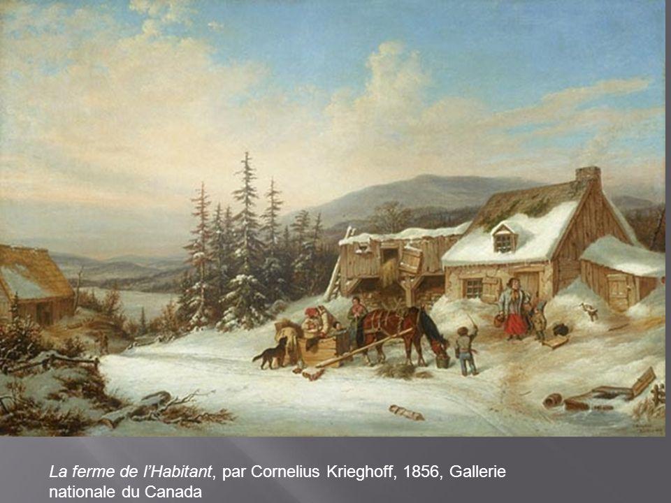 La ferme de l'Habitant, par Cornelius Krieghoff, 1856, Gallerie nationale du Canada