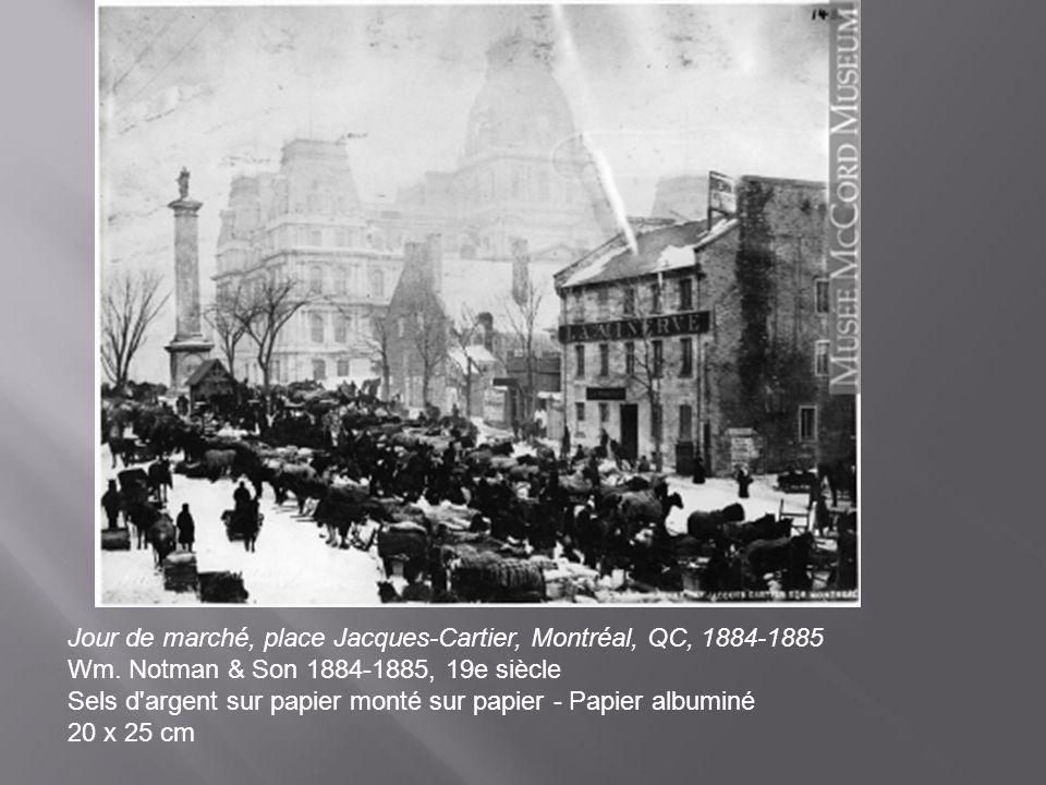 Jour de marché, place Jacques-Cartier, Montréal, QC, 1884-1885 Wm