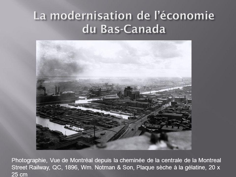 Photographie, Vue de Montréal depuis la cheminée de la centrale de la Montreal Street Railway, QC, 1896, Wm.