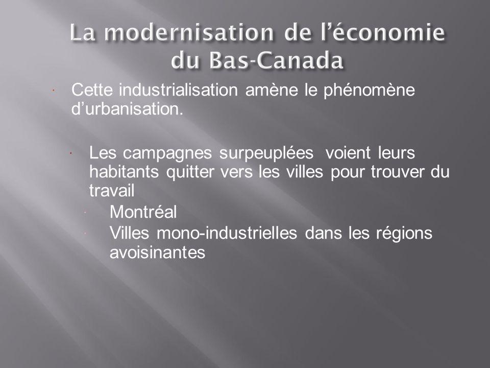 Cette industrialisation amène le phénomène d'urbanisation.