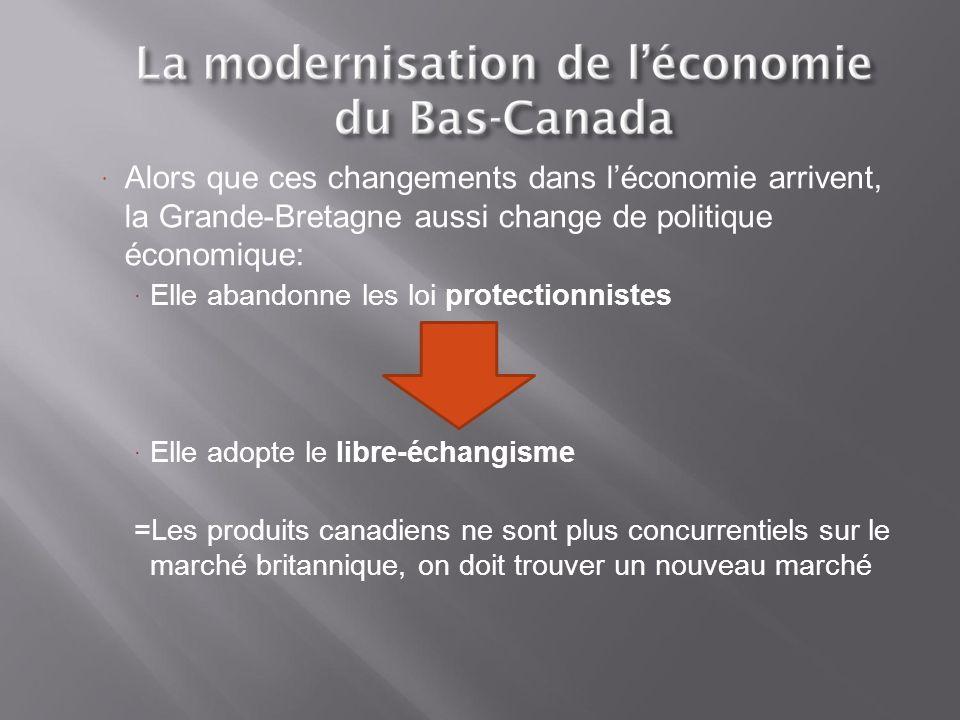 Alors que ces changements dans l'économie arrivent, la Grande-Bretagne aussi change de politique économique: