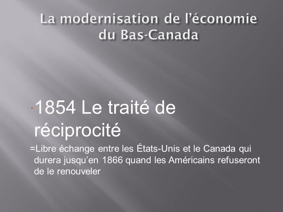1854 Le traité de réciprocité