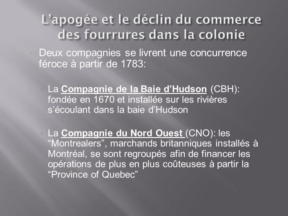 Deux compagnies se livrent une concurrence féroce à partir de 1783: