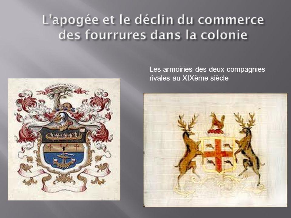 Les armoiries des deux compagnies rivales au XIXème siècle