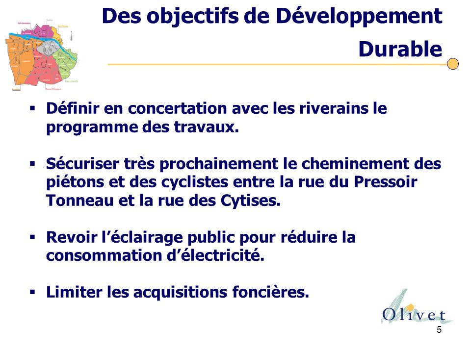 Des objectifs de Développement Durable