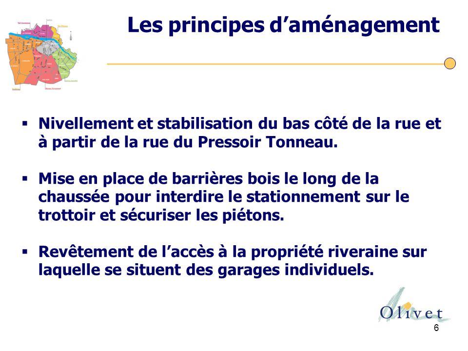 Les principes d'aménagement