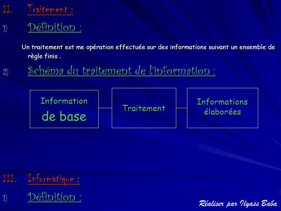 Informations élaborées