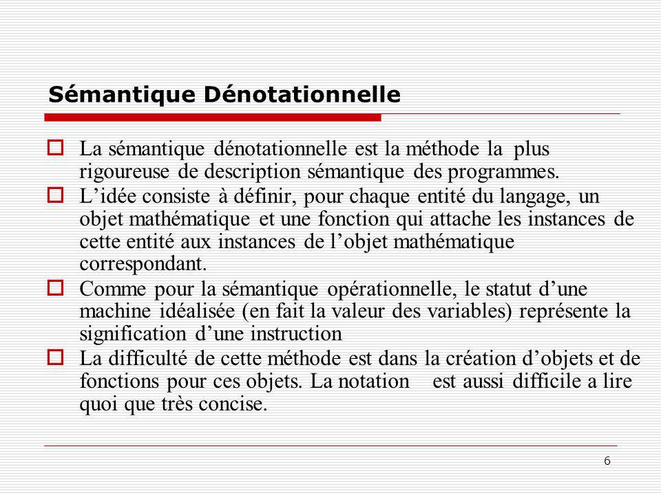 Sémantique Dénotationnelle