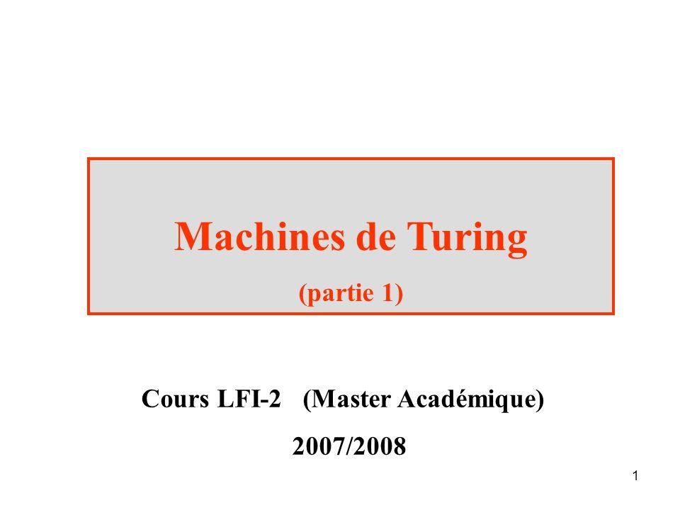 Cours LFI-2 (Master Académique)