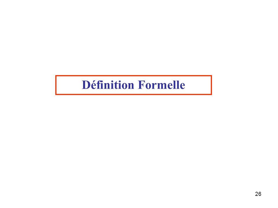 Définition Formelle