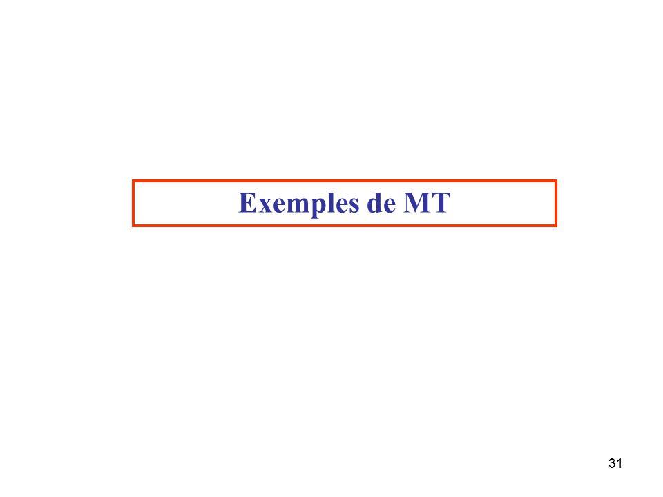 Exemples de MT