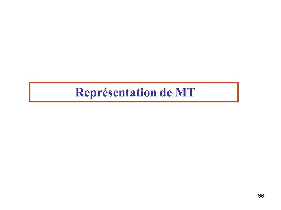 Représentation de MT