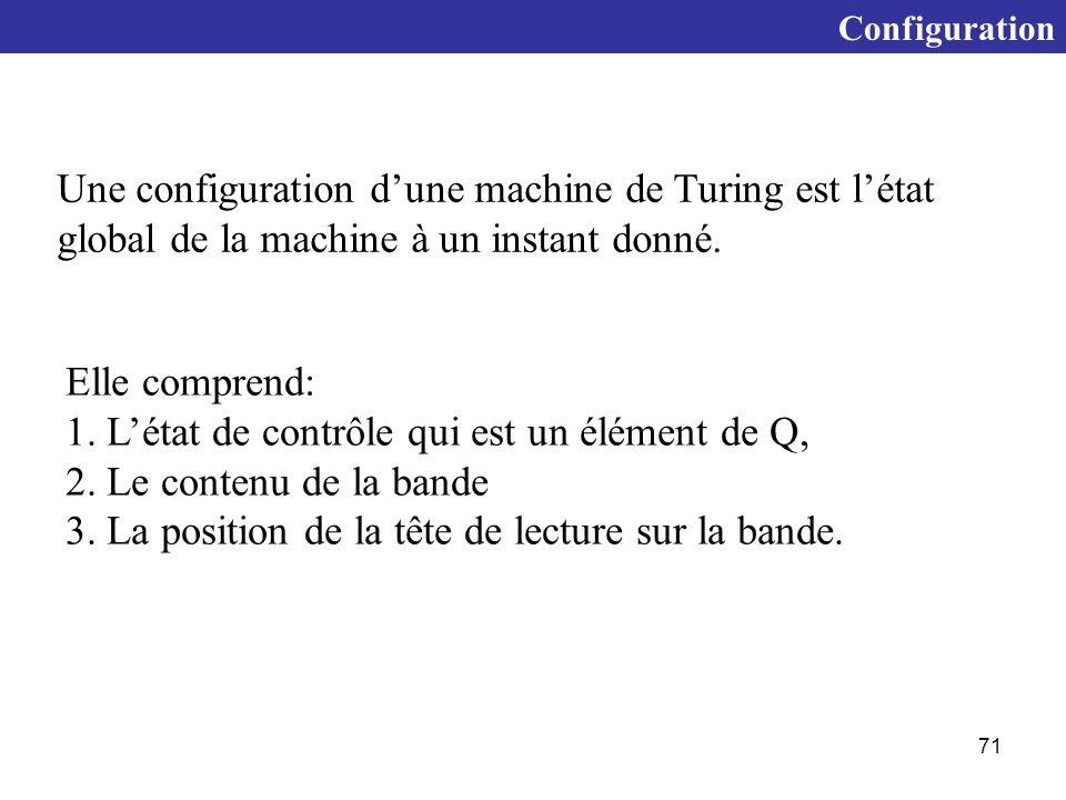 1. L'état de contrôle qui est un élément de Q,