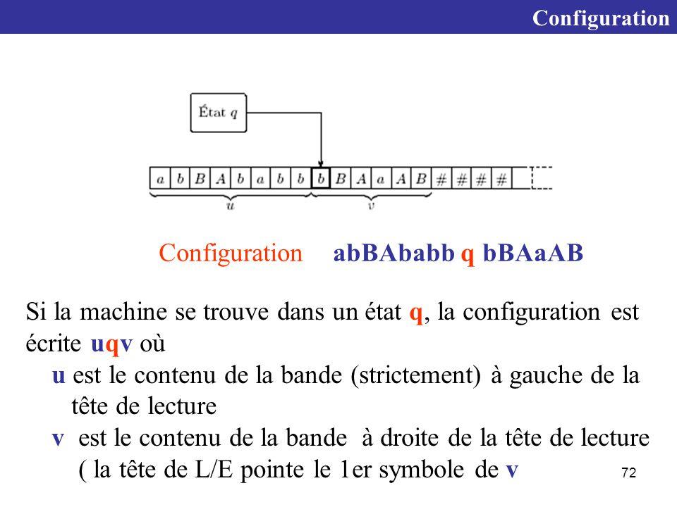 Configuration abBAbabb q bBAaAB