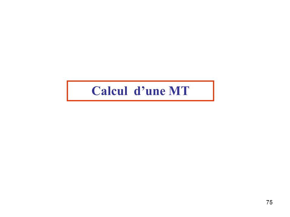 Calcul d'une MT