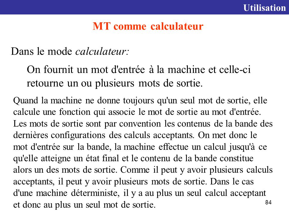 Dans le mode calculateur: