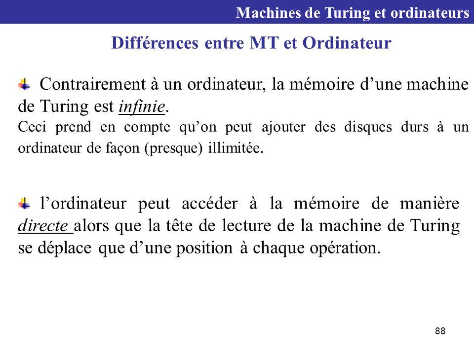 Différences entre MT et Ordinateur