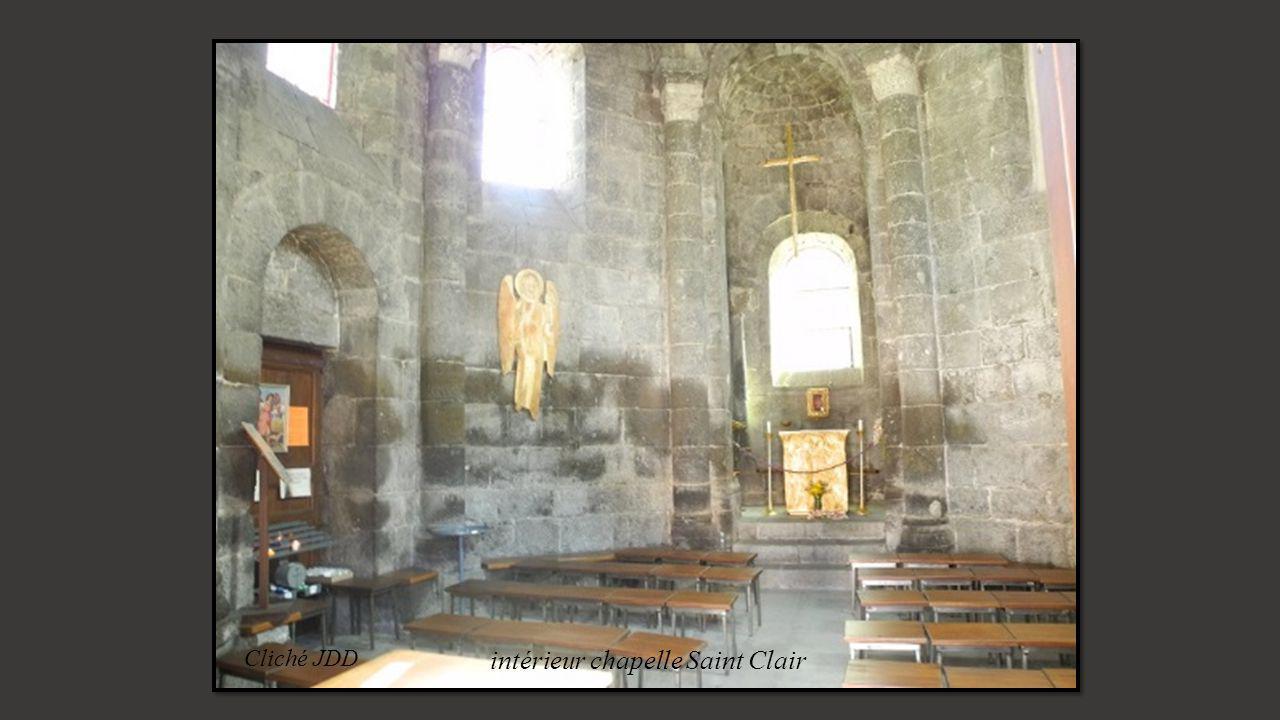 intérieur chapelle Saint Clair