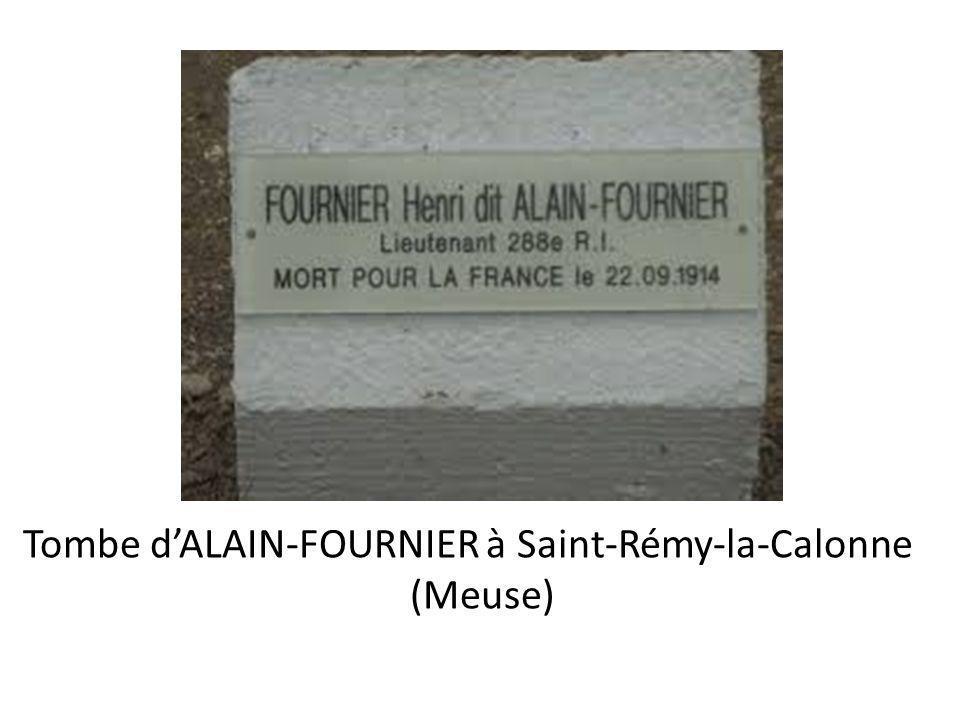 Tombe d'ALAIN-FOURNIER à Saint-Rémy-la-Calonne