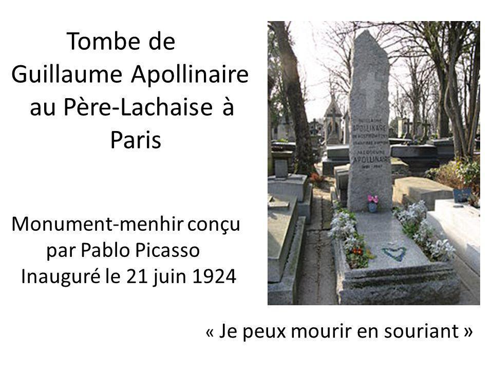 Guillaume Apollinaire au Père-Lachaise à Paris