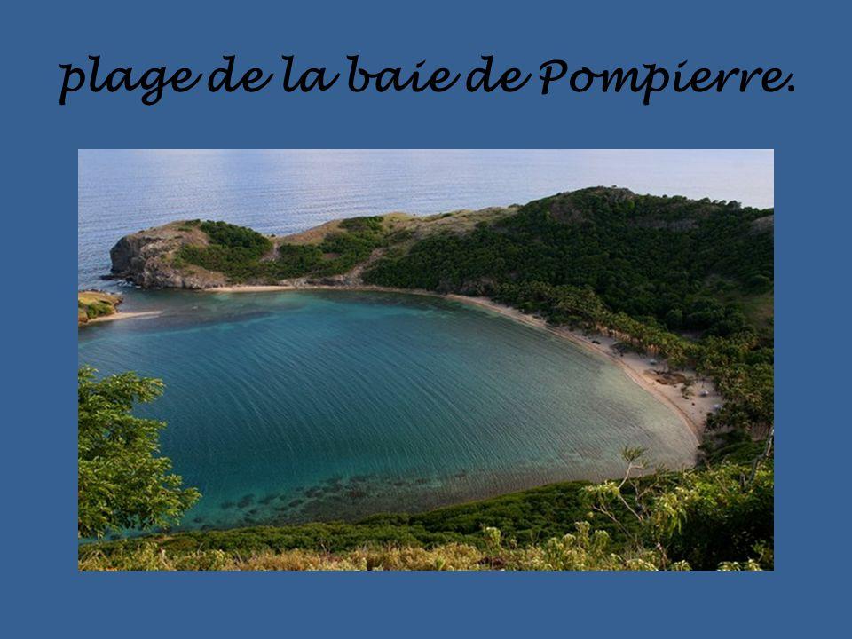 plage de la baie de Pompierre.