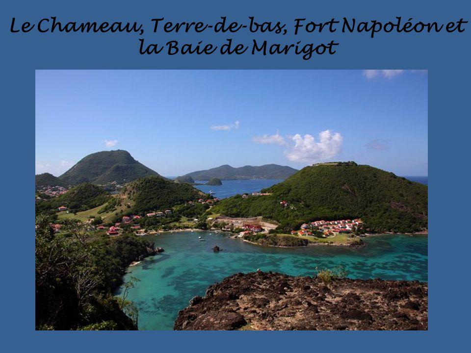 Le Chameau, Terre-de-bas, Fort Napoléon et la Baie de Marigot